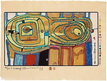 """764. Friedensreich Hundertwasser, Portfolio """"Midori No Namida""""."""