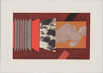 Lauri Ahlgrén, silkscreen, signed and dated -79, numbered 5/70.