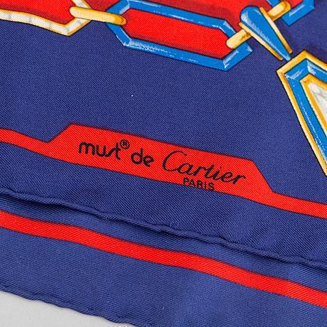 Cartier, a silk scarf.
