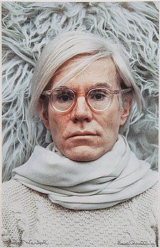 Ewa Rudling, photograph of Andy Warhol, signed.