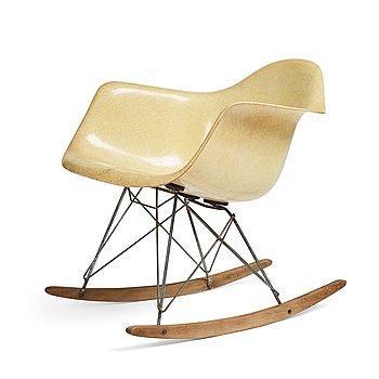 "54. Charles and Ray Eames, ""RAR"", rope edge, rocking chair, Zenith Plastics / Herman Miller 1950's."