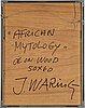 Jörgen waring, oil on panel, signed verso.