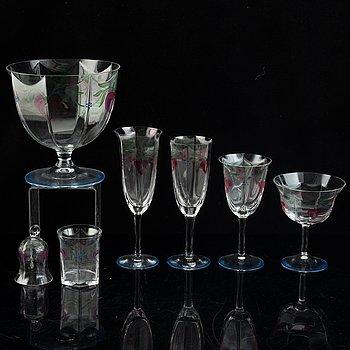 "21 pieces Eva Englund, ""Maja"", glass, Orrefors."