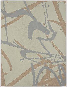 Georgie Nettell, silcscreen on linen, signed, 2013.