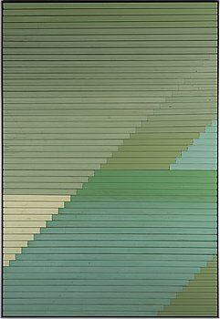 Alek O, painted plastic shutters, fexecuted in 2014.