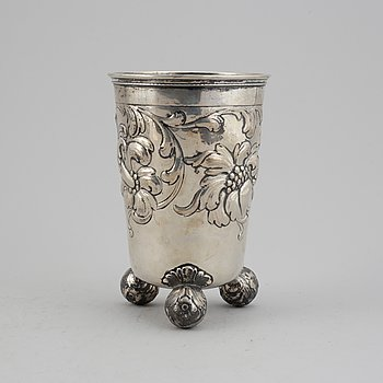 A swedish silver beaker, mark of CG Hallberg, Stockholm 1945.