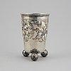 A swedish silver beaker, mark of cg hallberg, stockholm 1945.