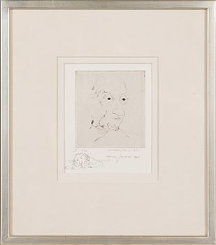 Unto Koistinen, etching, signed and dated 1975, numbered 14/40.