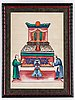 A set of four chinese paintings by unkown artist, qing dynasty, 19th century.