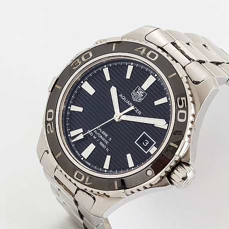 Tag heuer, aquaracer (500 m/ 1660 ft), wristwatch, 41 mm.