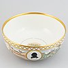 "A porcelain punsch bowl from royal copenhagen, in commemoration of ""the american revolution 1776-1976""."