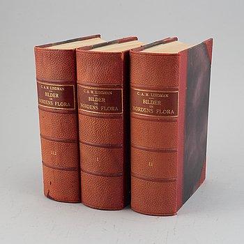 Three volumes of 'Bilder ur Nordens Flora', C.A.M Lindman, Wahlström & Widstrand, Stockholm, 1922-26.