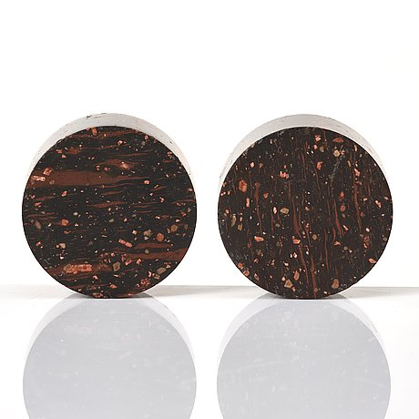 A pair of late gustavian porphyry salts.