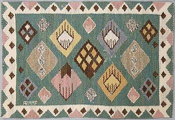 "Märta Måås-Fjetterström, a textile, ""Knoppen"", tapestry weave, ca 33,5-34,5 x 51 cm, signed AB MMF."