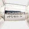 Anna-greta eker, ljusstakar, 2 st, silver och mahogny, auran kultaseppä, åbo 1963.