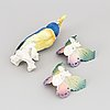 Three porcelaine figurines. porzellanfabrik karl ens, volkstedt-rudolstadt.