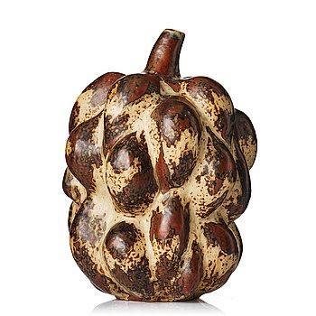 "135. Axel Salto, a ""Sung"" glazed fruit-shaped stoneware vase, model 20818, ca 1946."
