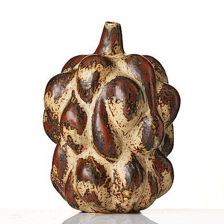 "Axel salto, a ""sung"" glazed fruit-shaped stoneware vase, model 20818, ca 1946."