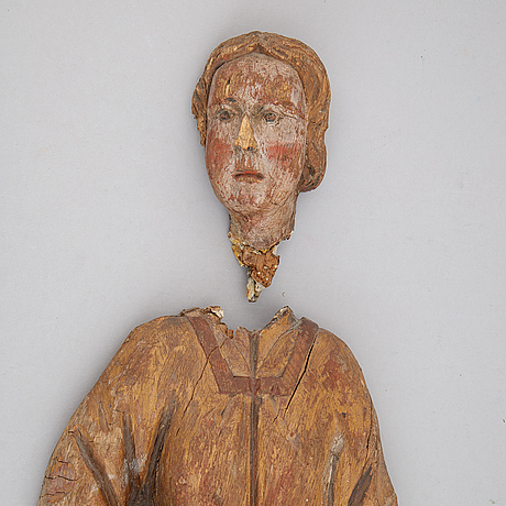 Sculpture, wood, partly painted, 117/18th century.
