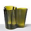 """Alvar aalto, a """"savoy/3030"""" dark green glass vase, iittala glassworks, finland ca."""