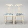 A pair of ikea fresta chairs, late 20th century.