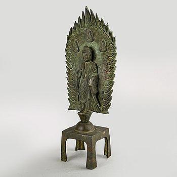 A Chinese bronze Buddha figurine 21st century.