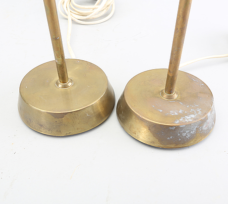 A pair of ewå table lamps later part of the 20th century.