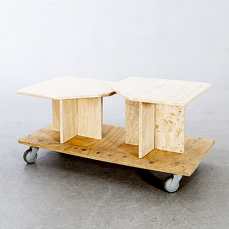 Sidetables, 2 pcs, later part of the 20th century.