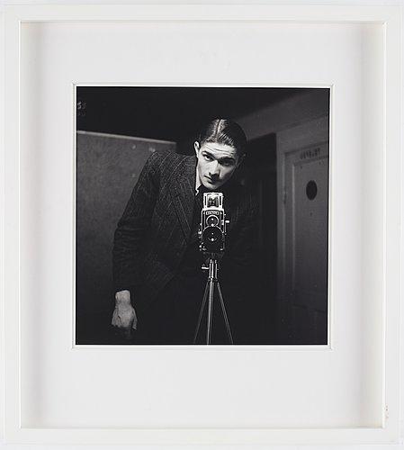 """Lennart nilsson, """"självporträtt"""", 1940's."""