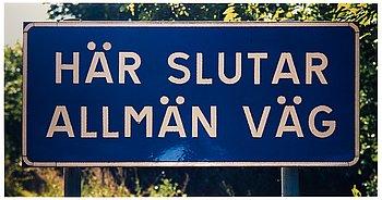 """180. Dan Wolgers, """"Här slutar allmän väg V"""", 1995."""