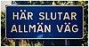"""Dan wolgers, """"här slutar allmän väg v"""", 1995."""