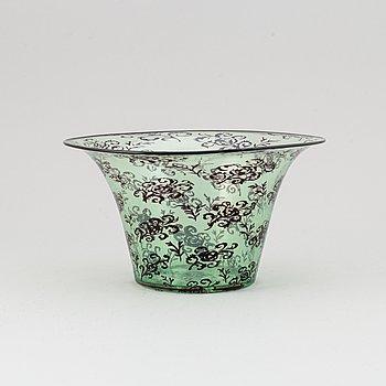 Simon Gate, a graal bowl, Orrefors 1920.