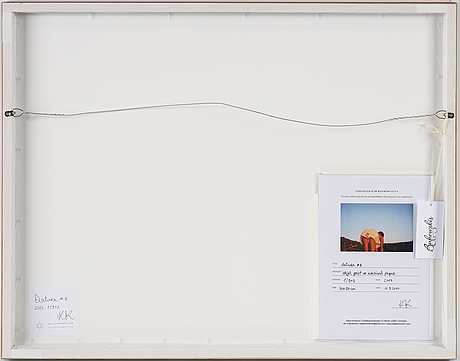 Katja kremenic, photography, signed on label and on certificate verso. edition 1/9+2.