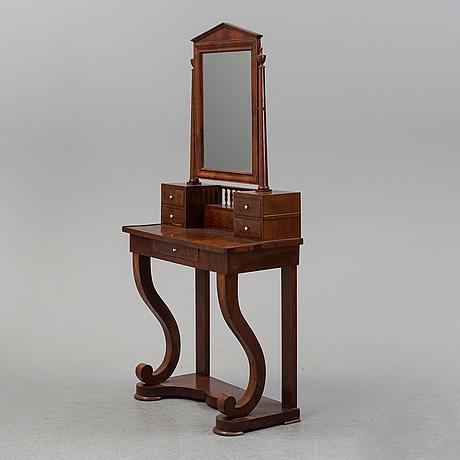 A 19th century swedish empire mahogany dressing table.