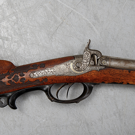 A percussion gun by morgenroth in gernrode, mid 19th century.