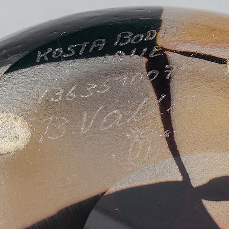 Bertil vallien, skål, unik, kosta boda, signerad och numrerad.