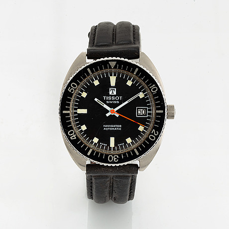 Tissot, navigator, wristwatch, 36.5 mm.