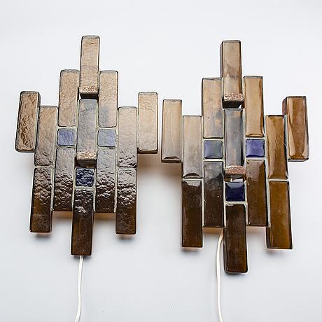 Wall lamps, a pair, probably christer sjögren lindshammar.
