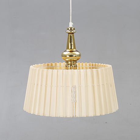 Hans-agne jakobsson, ceiling lamp brass, 1960s.