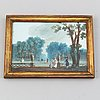 Unknown artist 18th century. miniature. signed and dated 1778.