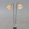 Floor lamp, 2-armed, 50s.