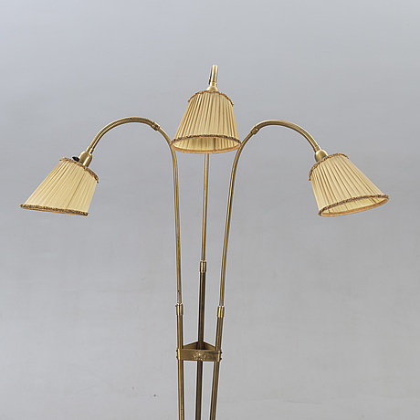 Floor lamp, 1940s, 3-armed.