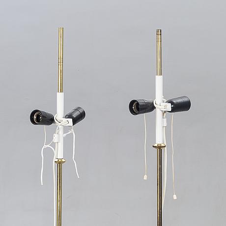 Hans-agne jakobsson, markaryd, floor lamps, a pair, model g 89.