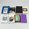 A group of eight books, about chinese ceramics and works of arts.
