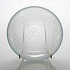 Inkeri toikka, a 1980s glass bowl signed inkeri toikka nuutajärvi notsjö.