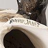 Janine janet,  skulptur signerad, 1950-tal.