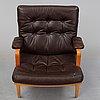 A pair of bruno mathsson 'ingrid' easy chairs, dux.
