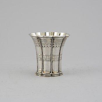 A parcel-gilt silver beaker, swedish import mark.