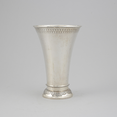 A swedish silver beaker, mark of k andersson, stockholm 1901.