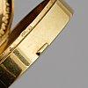 An 18 carat gold box, swedish import mark.